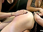 Step sister got severe lesbo punishment and fuck