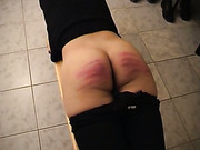 College girls fixed a naughty slut with caning