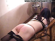 Seductive Asian cutie got her perfect booty spanked