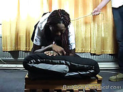 Big black ass after harsh spanking set