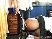 Big black ass after harsh spanking set