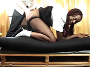 Submissive ebony bitch got ass spanking