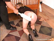 Young babe was spanked by her uncle