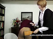Young bitch punished two lesbo schoolgirls