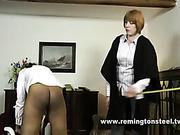 Lesbian headmistress paddled school rebel