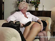 Glamour model got severe ass spanking