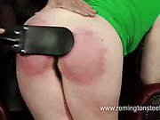 Laura's big ass paddled for the first time