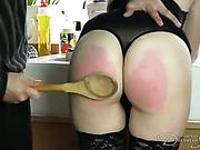 Party hostess got her bottom all spanked