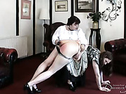 Young Miss Caroline in domesting spanking