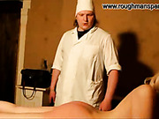 Hard medical spanking from kinky doctor