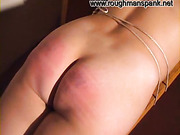 Kinky blond MILF bound and spanked
