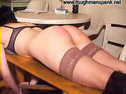Really hard spanking for bad chick