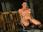 Sadistic dominant gave Alexa hard whipping session