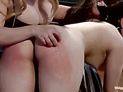Tight bondage and bottom caning for slavegirl