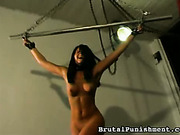 Sexy Angie got her body punished with a cane