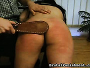 Caning and OTK spanking in the office