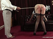 Badass bitch bearing rough caning and paddling