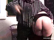 Blond schoolgirl got harsh OTK spanking