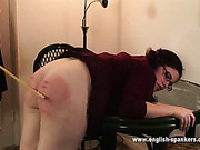 Cool round ass of bitch was paddled hard