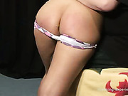 Hotties with posh asses endured spanking session