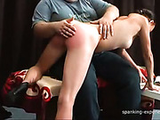 OTK spanking set for sexy brunette