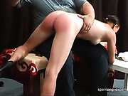 OTK spanking set for sexy brunette