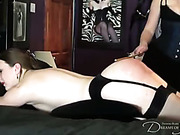 Lesbian bitches play their perverted spanking games