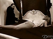 Horny ghost spanked her at night