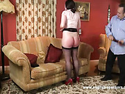 Domestic spanking punishment for nasty daughter