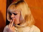 Russian blonde punished by doctor for smoking