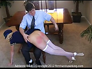 Blonde in uniform was strapped OTK and spanked