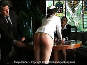 Hard strapping lesson for college chick