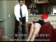 Boyfriend caned his chick Alison at home