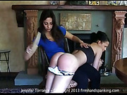Sexy young mistress spanked slutty Jennifer Torrance