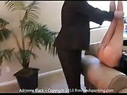 Blond slut Adrienne Black got ass hand spanked