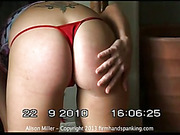 Sexy Alison got her great ass spanked well