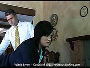 Hard spanking lesson for pretty Valerie Bryant