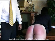 Hard spanking lesson for pretty Valerie Bryant