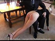 OTK spanking set for hot blonde Adrienne Blackwas