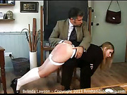 Terrible spanking lesson for young blonde Belinda Lawson