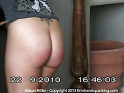 Caning punishment for cute dancer Alison Miller