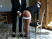 Hard spanking punishment in military style