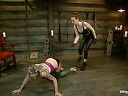 Sadistic bitch Maitresse Madeline tortured slavegirl