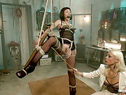 Strict mistress disciplined her new slave girl