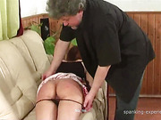 Sexy young lady had ass punished at home