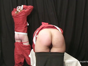 Cristmas caning punishment with cute hottie
