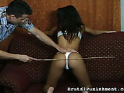 Great ass hottie was punished with caning