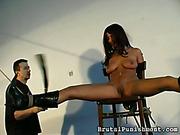 Beautiful tied bitch got terrible spanking