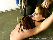 Hard strapping for tied bitch in nylons