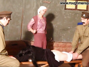 Good spanking for Russian whore from police officers